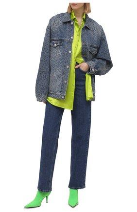 Женская джинсовая куртка BALENCIAGA голубого цвета, арт. 625993/TJW54   Фото 2