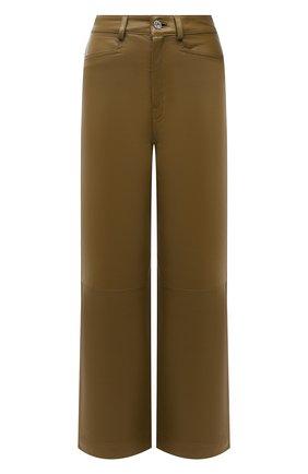 Женские кожаные брюки PROENZA SCHOULER WHITE LABEL хаки цвета, арт. WL2126070-LR184 | Фото 1