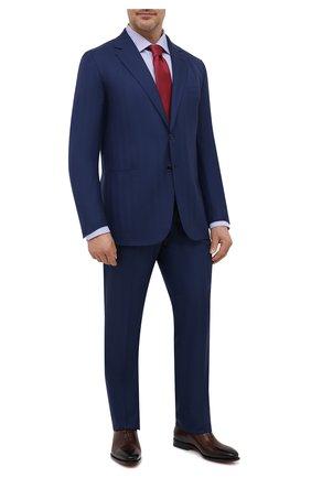 Мужской шерстяной костюм ZILLI темно-синего цвета, арт. MMV-P1202Z1-56804/0001 | Фото 1