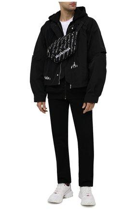 Мужская текстильная поясная сумка wheel BALENCIAGA черного цвета, арт. 533009/H857X   Фото 2 (Материал: Текстиль)