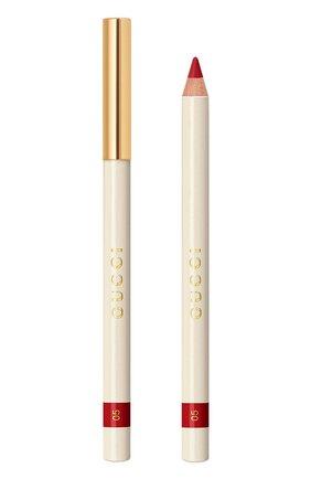 Карандаш для губ crayon contour des lèvres, 5 rubis GUCCI бесцветного цвета, арт. 3616301781462 | Фото 1
