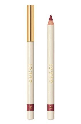 Карандаш для губ crayon contour des lèvres, 2 tendre GUCCI бесцветного цвета, арт. 3616301781431 | Фото 1