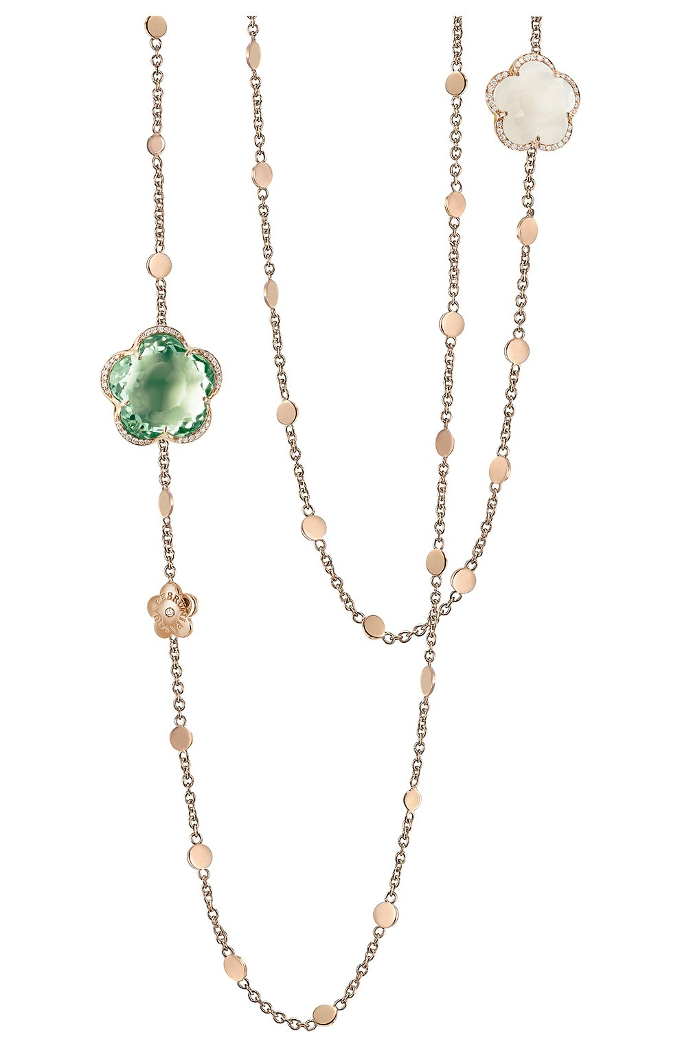 Женские колье dolce vita PASQUALE BRUNI бесцветного цвета, арт. 16096R   Фото 1 (Драгоценные камни: Другие; Материал сплава: Розовое золото)