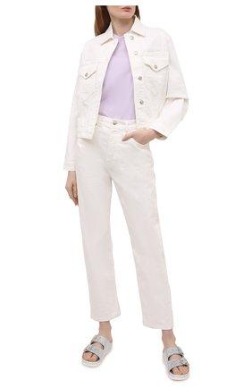 Женские кожаные шлепанцы LE SILLA серебряного цвета, арт. 3732Q040M1PPBUR   Фото 2