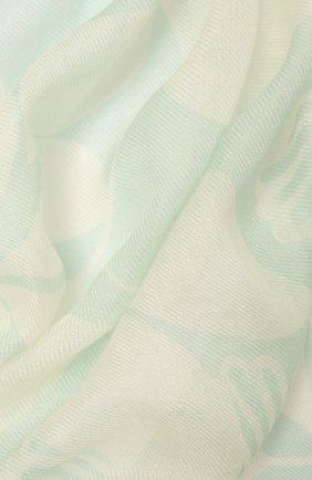 Женская шаль из кашемира и шелка LORO PIANA светло-зеленого цвета, арт. FAL6217   Фото 2