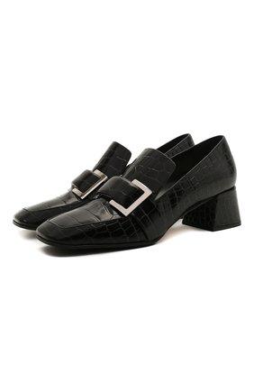 Женские кожаные туфли sr prince SERGIO ROSSI черного цвета, арт. A86680-MMVS57 | Фото 1