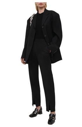 Женские кожаные туфли sr prince SERGIO ROSSI черного цвета, арт. A86680-MMVS57 | Фото 2
