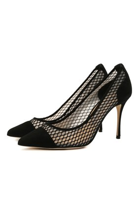Женские комбинированные туфли godiva SERGIO ROSSI черного цвета, арт. A89580-MFI302 | Фото 1