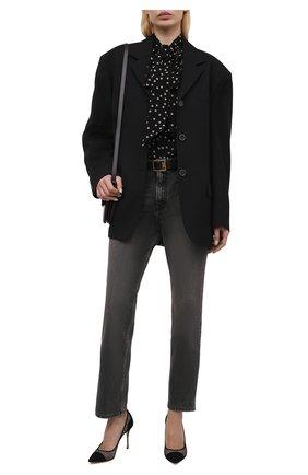 Женские комбинированные туфли godiva SERGIO ROSSI черного цвета, арт. A89580-MFI302 | Фото 2