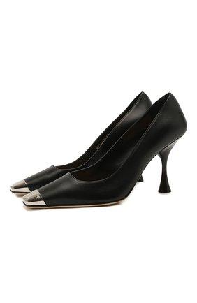 Женские кожаные туфли sr twenty metal SERGIO ROSSI черного цвета, арт. A93030-MNAN07 | Фото 1