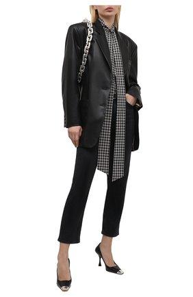Женские кожаные туфли sr twenty metal SERGIO ROSSI черного цвета, арт. A93030-MNAN07 | Фото 2