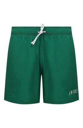 Мужские плавки-шорты AMIRI зеленого цвета, арт. MSB001-302   Фото 1