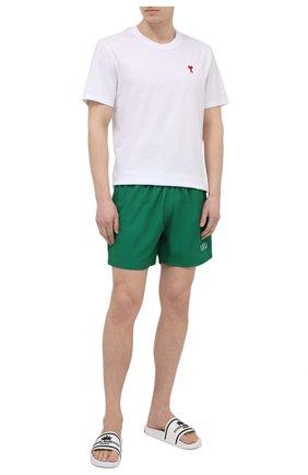Мужские плавки-шорты AMIRI зеленого цвета, арт. MSB001-302   Фото 2