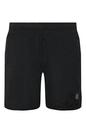 Мужские плавки-шорты STONE ISLAND черного цвета, арт. 7415B0943 | Фото 1