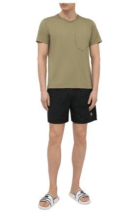 Мужские плавки-шорты STONE ISLAND черного цвета, арт. 7415B0943 | Фото 2