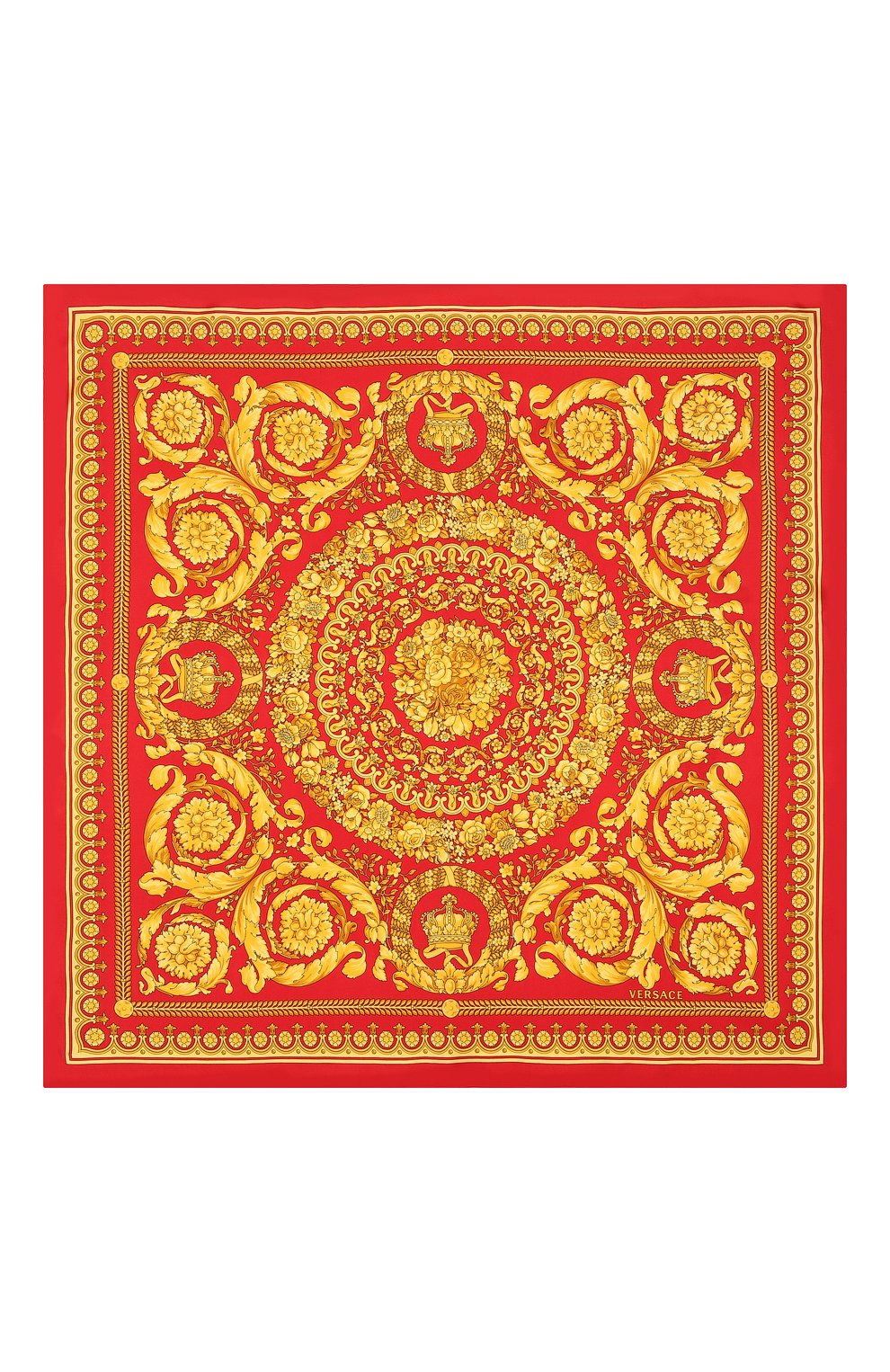 платок женский 15049 шелк оранжевый