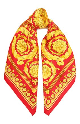 Женский шелковый платок VERSACE красного цвета, арт. IF09001/IT02283 | Фото 1