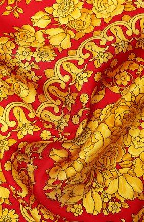 Женский шелковый платок VERSACE красного цвета, арт. IF09001/IT02283 | Фото 2