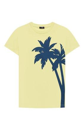 Детская хлопковая футболка IL GUFO желтого цвета, арт. P21TS313M0014/2A-4A | Фото 1