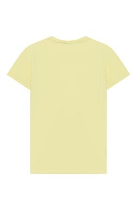Детская хлопковая футболка IL GUFO желтого цвета, арт. P21TS313M0014/2A-4A | Фото 2