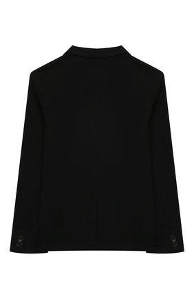 Детский хлопковый пиджак PAOLO PECORA MILANO черного цвета, арт. PP2731/14A-16A   Фото 2