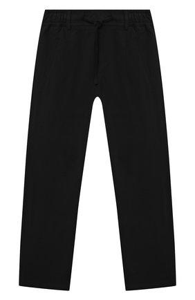 Детские хлопковые брюки PAOLO PECORA MILANO черного цвета, арт. PP2716/8A-12A   Фото 1