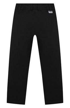 Детские хлопковые брюки PAOLO PECORA MILANO черного цвета, арт. PP2716/8A-12A   Фото 2