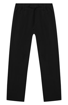 Детские хлопковые брюки PAOLO PECORA MILANO черного цвета, арт. PP2716/14A-16A   Фото 1