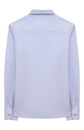 Детская рубашка из хлопка и льна PAOLO PECORA MILANO голубого цвета, арт. PP2703/8A-12A   Фото 2