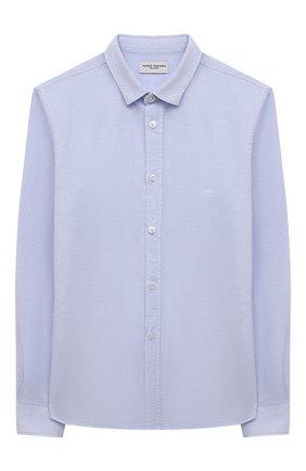 Детская рубашка из хлопка и льна PAOLO PECORA MILANO голубого цвета, арт. PP2703/14A-16A   Фото 1