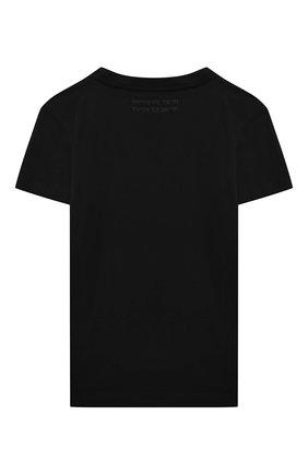 Детская хлопковая футболка PAOLO PECORA MILANO черного цвета, арт. PP2670/14A-16A   Фото 2