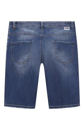 Детские джинсовые шорты PAOLO PECORA MILANO синего цвета, арт. PP2610/8A-12A   Фото 2
