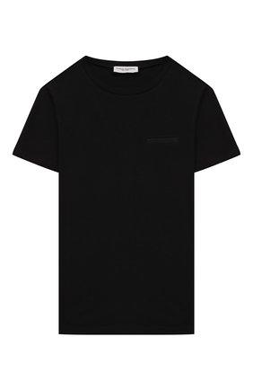 Детская хлопковая футболка PAOLO PECORA MILANO черного цвета, арт. PP2593/8A-12A   Фото 1