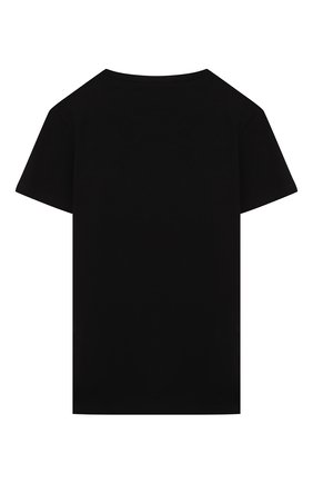 Детская хлопковая футболка PAOLO PECORA MILANO черного цвета, арт. PP2593/8A-12A   Фото 2