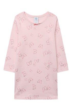 Детская хлопковая сорочка SANETTA светло-розового цвета, арт. 232605 | Фото 1