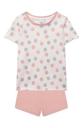 Детская хлопковая пижама SANETTA светло-розового цвета, арт. 232567 | Фото 1