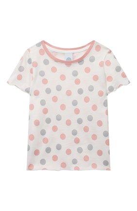 Детская хлопковая пижама SANETTA светло-розового цвета, арт. 232567 | Фото 2