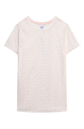 Детская хлопковая пижама SANETTA светло-розового цвета, арт. 244949 | Фото 2