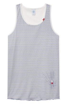 Детская хлопковая пижама SANETTA синего цвета, арт. 244977 | Фото 2