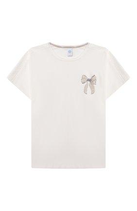 Детская хлопковая пижама SANETTA светло-розового цвета, арт. 244945 | Фото 2