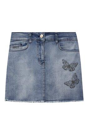 Детская джинсовая юбка JAKIOO голубого цвета, арт. 497700 | Фото 1