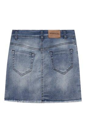Детская джинсовая юбка JAKIOO голубого цвета, арт. 497700 | Фото 2