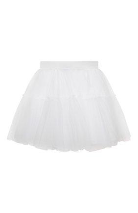 Детская юбка MONNALISA белого цвета, арт. 177GON | Фото 1
