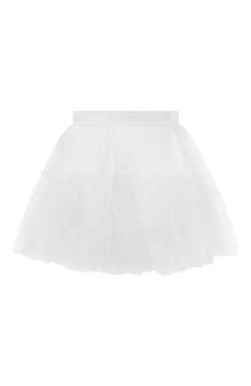 Детская юбка MONNALISA белого цвета, арт. 177GON | Фото 2