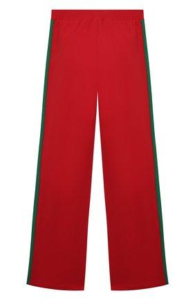 Детские хлопковые брюки MONNALISA красного цвета, арт. 197421RB | Фото 2