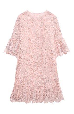 Детское платье из хлопка и вискозы DOLCE & GABBANA светло-розового цвета, арт. L52DM8/HLMEA/2-6 | Фото 1 (Рукава: Длинные; Материал внешний: Вискоза, Хлопок; Материал подклада: Вискоза, Хлопок; Девочки Кросс-КТ: Платье-одежда; Случай: Вечерний; Ростовка одежда: 2 года | 92 см, 3 года | 98 см, 4 года | 104 см, 5 лет | 110 см, 6 лет | 116 см)