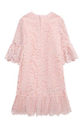 Детское платье из хлопка и вискозы DOLCE & GABBANA светло-розового цвета, арт. L52DM8/HLMEA/2-6 | Фото 2 (Рукава: Длинные; Материал внешний: Вискоза, Хлопок; Материал подклада: Вискоза, Хлопок; Девочки Кросс-КТ: Платье-одежда; Случай: Вечерний; Ростовка одежда: 2 года | 92 см, 3 года | 98 см, 4 года | 104 см, 5 лет | 110 см, 6 лет | 116 см)