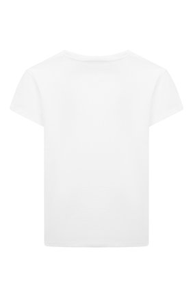 Детская хлопковая футболка CHIARA FERRAGNI белого цвета, арт. 21PE-CFKT034 | Фото 2