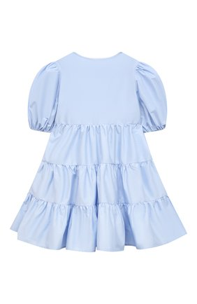 Детское хлопковое платье IL GUFO голубого цвета, арт. P21VM619C0046/2A-4A | Фото 2