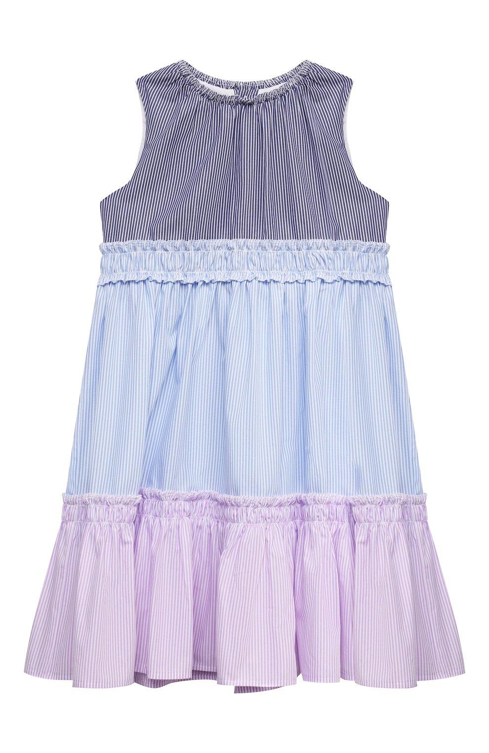 Детское хлопковое платье IL GUFO разноцветного цвета, арт. P21VA265C1052/2A-4A   Фото 1
